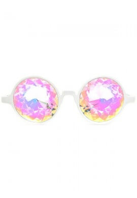 White Rainbow Kaleidoscope Glasses