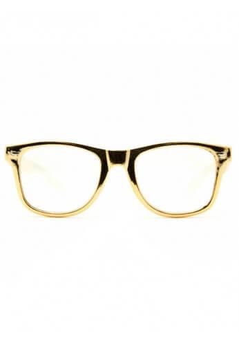 Gold Wayfarer Diffraction Glasses
