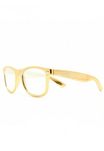 Gold Wayfarer Diffraction Glasses