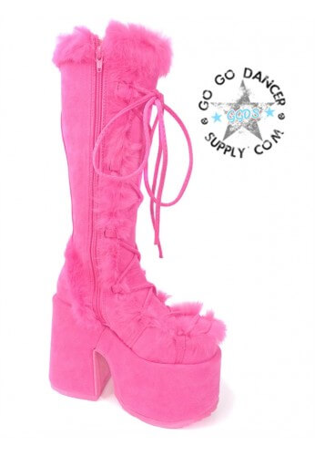 Pink Demonia Camel 311 Boots