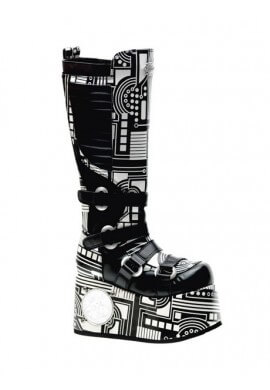 Black and White Techno Boots