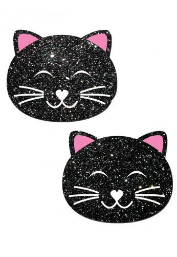 Black Glitter Kitty Pastease