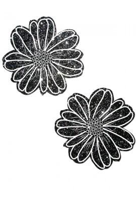 Black Glitter Electric Daisy Pastease