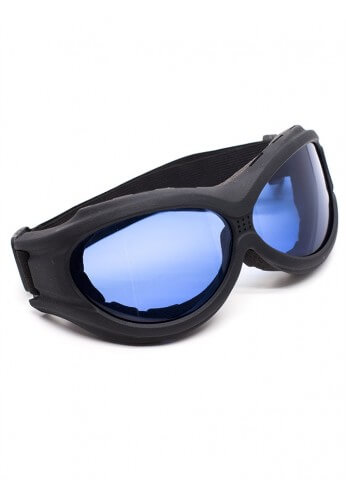 Flat Black Padded Goggles
