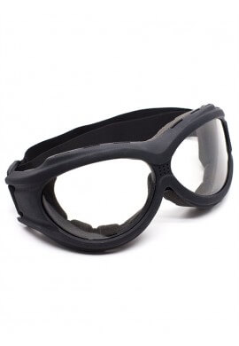Flat Black Padded Goggles