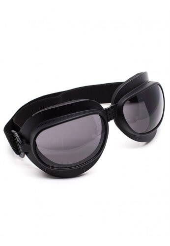 Foldable Flat Black Goggles