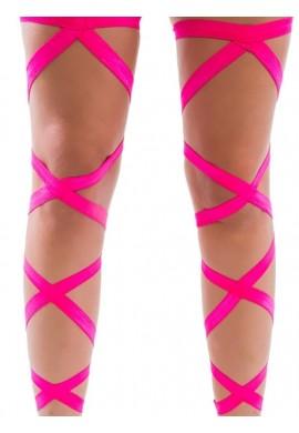 Neon Pink Leg Wraps