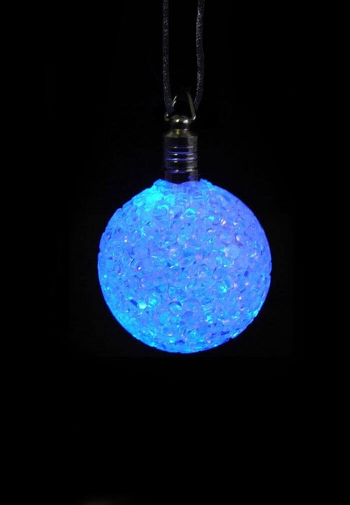 Led crystal ball necklace light up rave toys at raveready led crystal ball necklace aloadofball Image collections