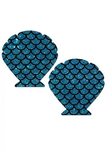 Turquoise Mermaid Seashell Pasties