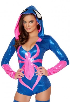 Blue and Pink Spider Romper