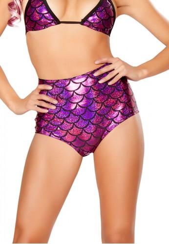 Pink High Waisted Mermaid Shorts
