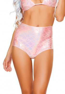 Baby Pink High Waisted Mermaid Shorts