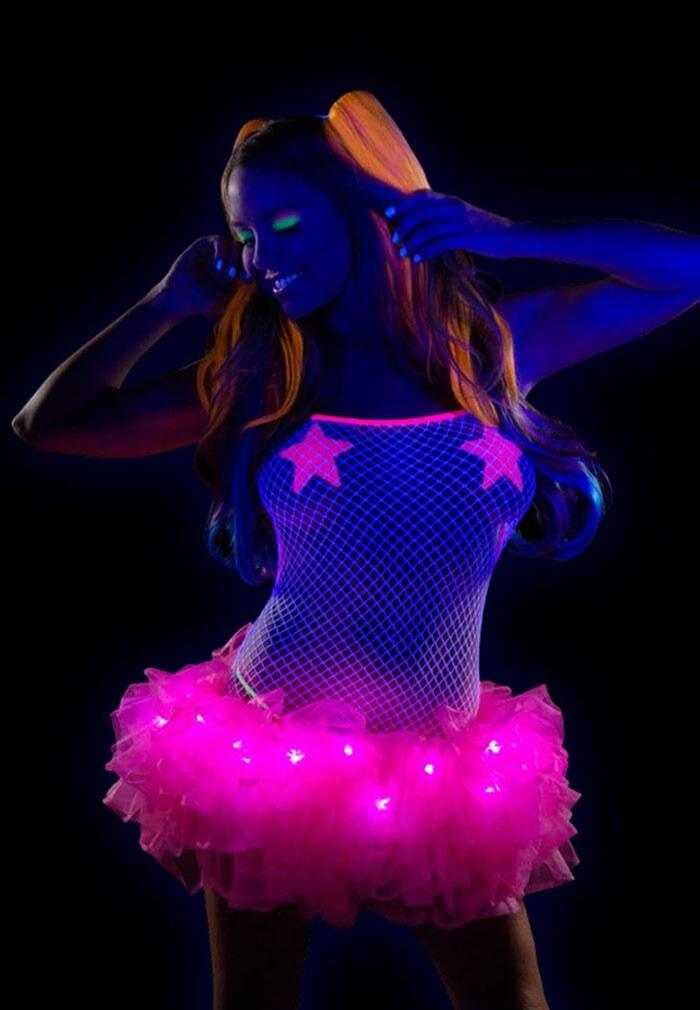 Neon Pink Light Up Tutu J Valentine From Raveready