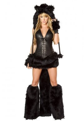 Black Cat Tail with Belt