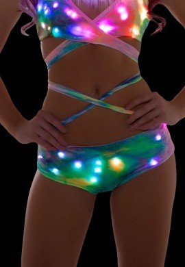 Pastel Tie Dye Light Up Shorts