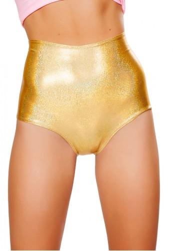 Gold Twinkle High Waist Shorts