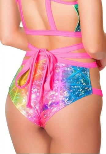 Diamond Hologram Wrap Shorts