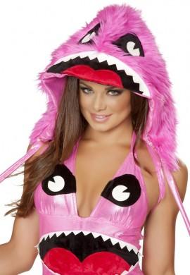 Pink Monster Hood
