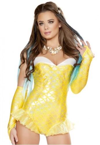 Yellow Mermaid Romper