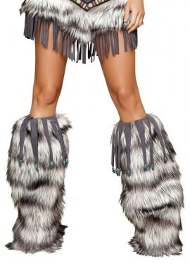 Beaded Fringe Leg Warmers