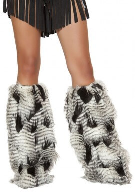 Feathered Leg Warmers