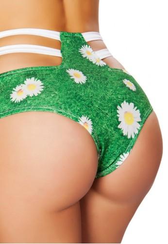 Daisy High Waist Strapped Shorts