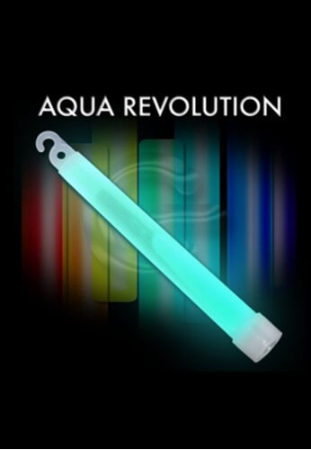 "10 Pack - 6"" High Intensity Aqua Glowstick"