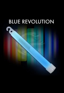 "10 Pack - 6"" High Intensity Blue Glowstick"