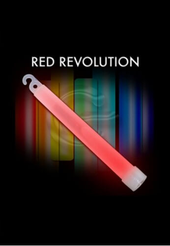 "10 Pack - 6"" High Intensity Red Glowstick"