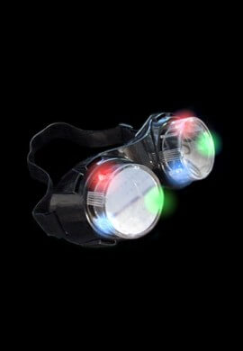 Light Up LED Cyber Goggles