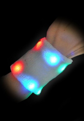 LED Light Up Wrist Sweatband (6 Pack)