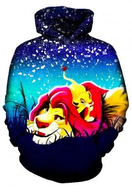 Simba and Mufasa Stars Hoodie