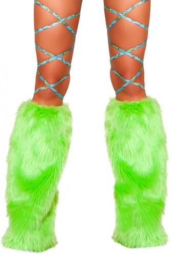 Blue Leopard Leg Wraps