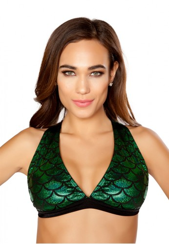 Green Mermaid Halter Top