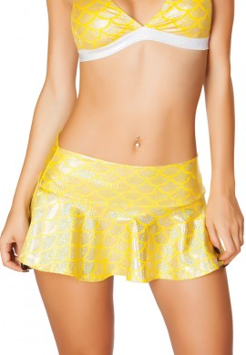 Yellow Mermaid Dance Skirt