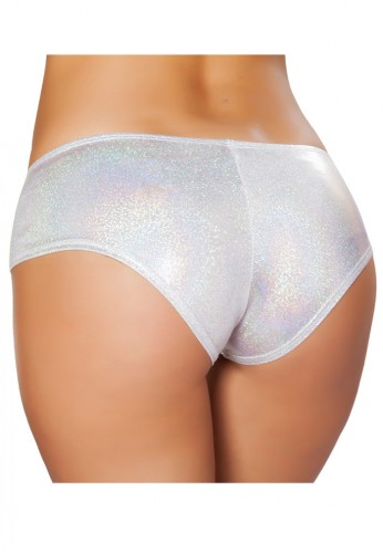 Silver Shimmer Booty Shorts