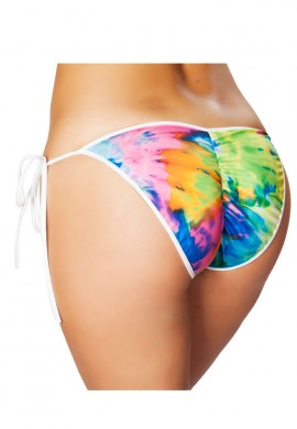 Tie Dye Pucker Bikini Bottom