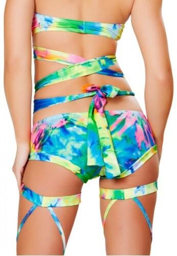 Tie Dye Booty Shorts