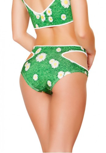 Daisy Cutout High Waist Shorts