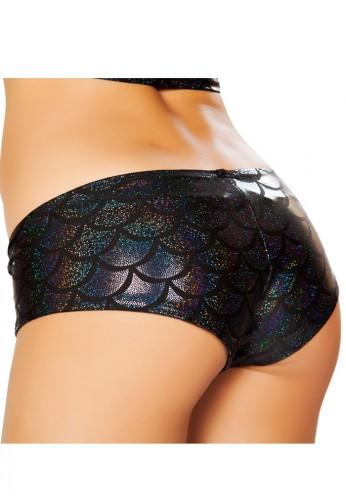 Black Mermaid Booty Shorts