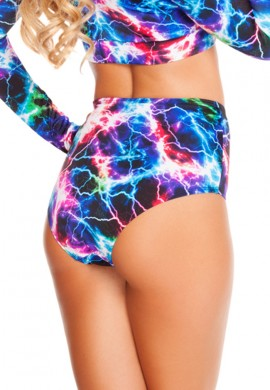Electric High Waisted Shorts