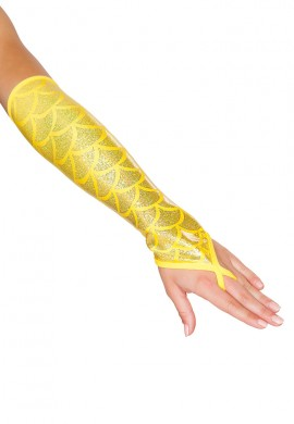 Yellow Mermaid Gloves