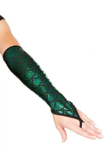Green Mermaid Gloves