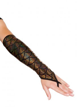 Gold Mermaid Gloves
