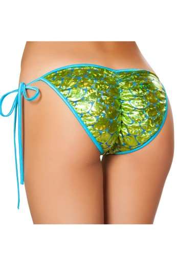 Seafoam Green Mermaid Pucker Back Bikini Bottom