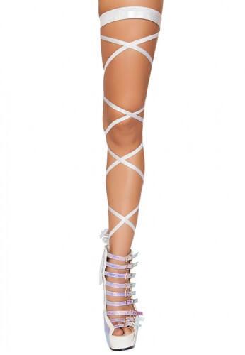 White Shimmer Leg Wraps