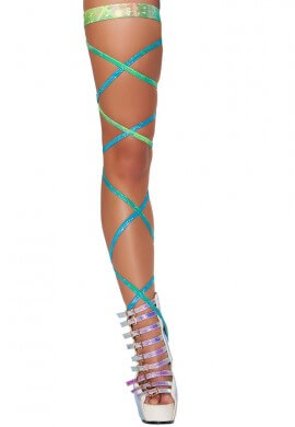 Diamond Hologram Leg Wraps