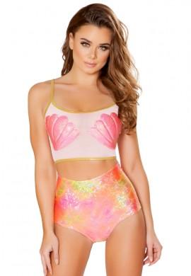Koi Pink High Waisted Shorts