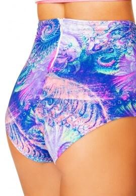 Pink Spiral High Waist Shorts