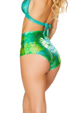 Koi Blue Green High Waist Short